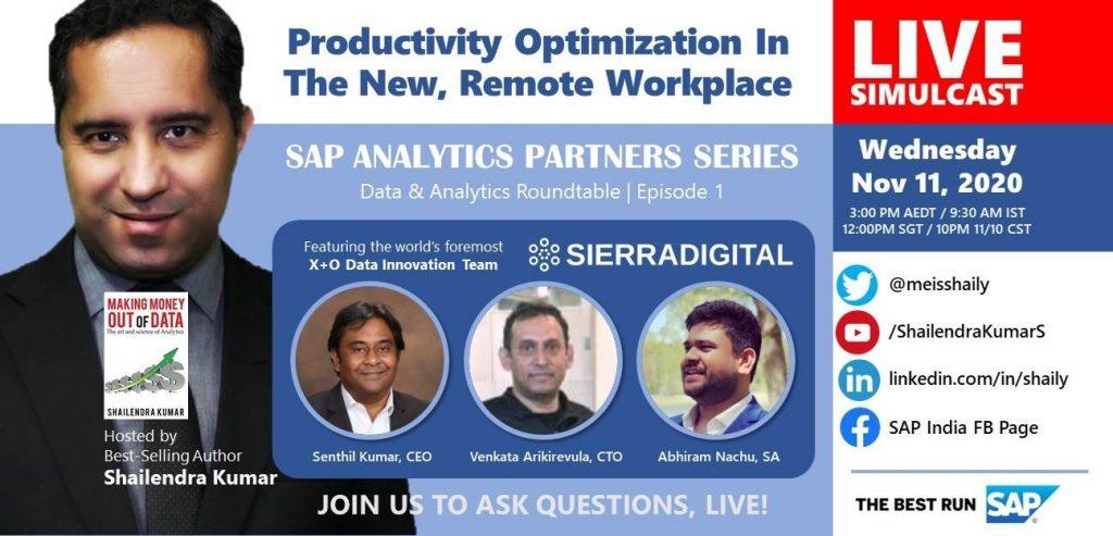 Distributed Workforce App Pioneered by Sierra Showcased in SAP Data & Analytics Webinar